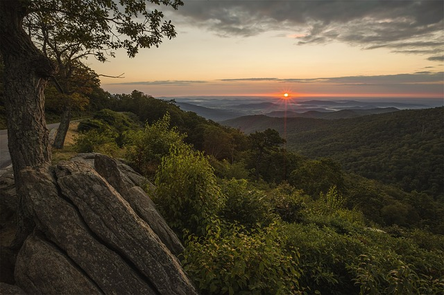 Parc national de Shenandoah en virginie